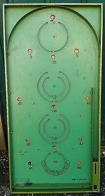 """Vintage """"The Enfield"""" Bagatelle Board, Spears Games, Made In England For Repair"""