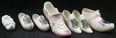 Collection of Miniature Ceramic Shoes Inc Foley, Crested for Weymouth & Brighton