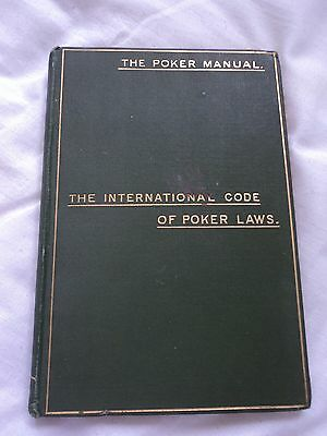 VERY RARE COPY OF 'THE POKER MANUAL'. BY TEMPLAR ORIGINAL 1st EDN. DATED 1895.