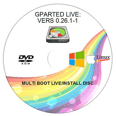 Disk Manager & Partition - Live Disc - 32/64Bit - Win/mac/linux Gparted 0.26.1-1