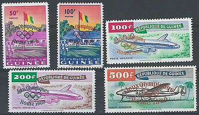 Guinea 1960 Olympic Games sg248-52 unmounted mint cat £95 [ref 4s2433]248/2806