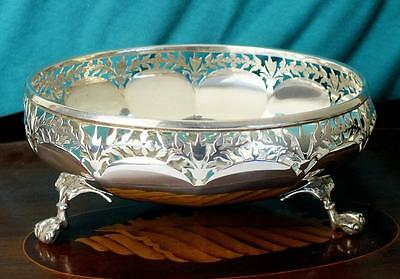 325g Solid Silver Bowl With Cast Wing Ball & Claw Feet -Bham 1913 - Fattorini