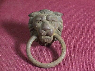 Antique Drawer Pull Handle Ornate Victorian Replacement Part Hardware Clock Lion