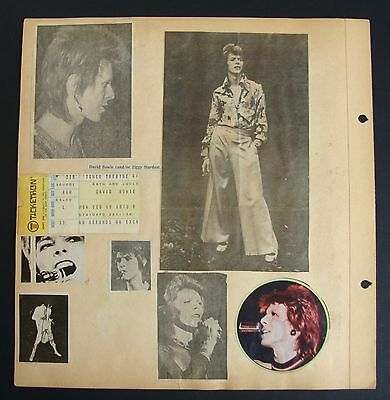 David Bowie 1973 Concert Ticket~Tower Theatre Philadelphia, PA On Scrapbook Page