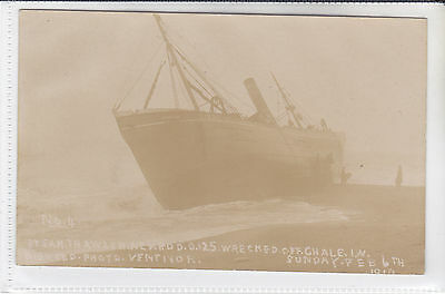 Postcard Steam Trawler Nemrod Wrecked Off Chale, Isle Of Wight Digweed Photo