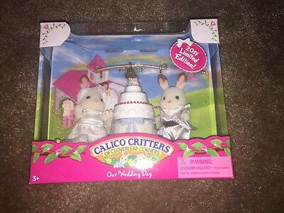 Calico Critters CC2189 New In Box  -Our Wedding Day- 2011 Limited Edition RARE