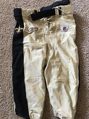 New Orleans Saints Game Pants With Belt Size 38