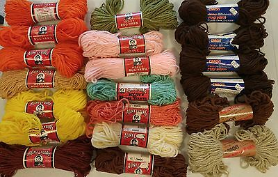 20 Skeins Lot Aunt Lydia's Carons HEAVY RUG MAKING YARN 100% Polyester 1300 Yrds