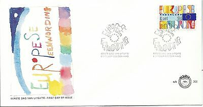 1992 FDC Europe Unification  FDI 6th October 1992 on Unaddressed FDC