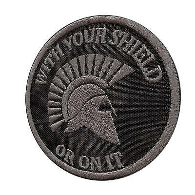 WITH YOUR SHIELD OR IT kryptek typhon us bordado parche sew iron on patch