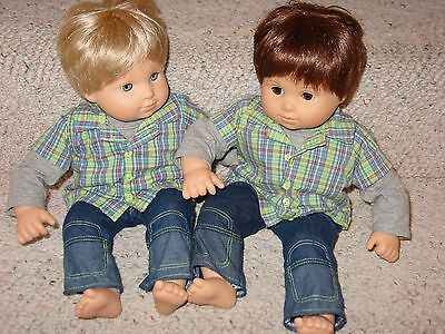 Bitty Baby Twin Boys Blonde & Brown Hair By American Girl