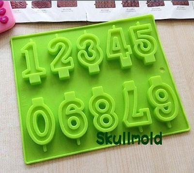 Cake Mold Soap Mold Number Arabic Numerals Silicone Mould For Candle Chocolate