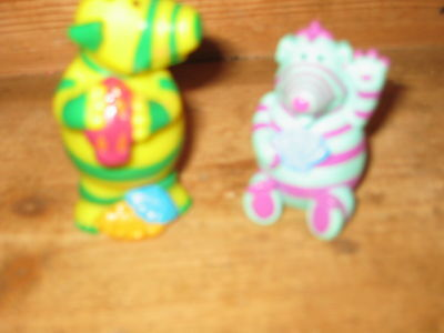 Fimbles Tv Series 2X Stand Sit  Play Figures Florrie Fimbo Yellow Green Stripes