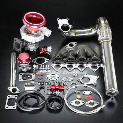 B-Series B16 B18 T04E Stage Ii Turbo Charger Cast Manifold Kit Boost Em1 Db9 Dc2
