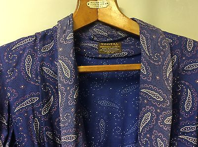 Vintage men's 1940's Blue paisley tootal dressing gown