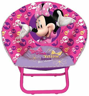 Disney Minnie Mouse Pink Bows Toddler Foldable Saucer Chair Seat NEW NIB