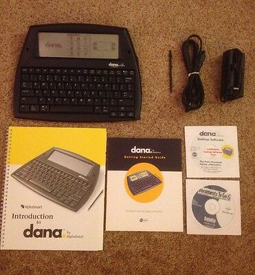 Palm AlphaSmart Dana Portable Wireless Word Processor - Stylus, charger, Manual