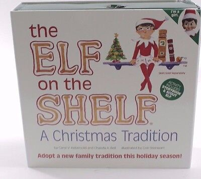 Elf on the Shelf: A Christmas Tradition (blue-eyed girl scout elf)ELF & BOOK