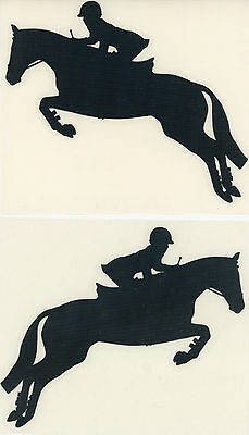 Hunter Jumper Decal Pair Black Horse Pony Olympic Equestrian Stickers Small New