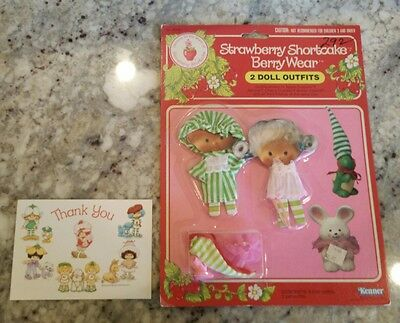 Vintage Strawberry Shortcake BERRY WEAR OUTFIT MINT UNOPENED  GOOD NITE SWEET