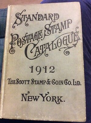 1912 Standard Postage & Stamp Catalogue by Scott Stamp 1900+ page US & World