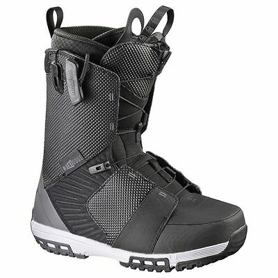 Salomon Dialogue Wide Black Autobahn Grey Mens Snowboard Boots Snow 2017