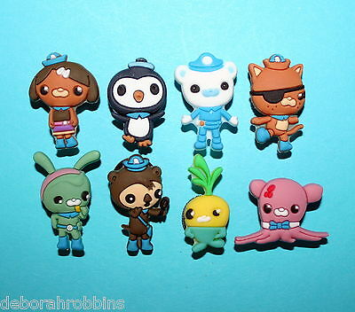 Octonauts Shoe Charms 8 Party Favours Piñata Fillers Decorations BOYS GIFT NEW