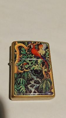 RARE Zippo Mysteries of The Forest Parrot Lighter - Top Left Eye - 1995 USA Made