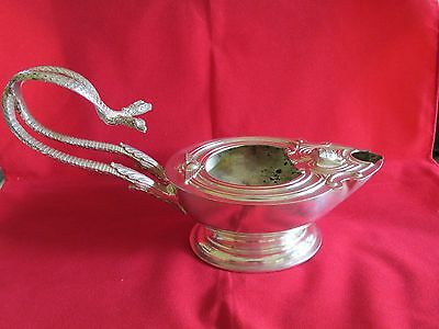 Wow Vintage Silverplate Egyptian Revival gravy jug or Lamp ? Egyptian symbols
