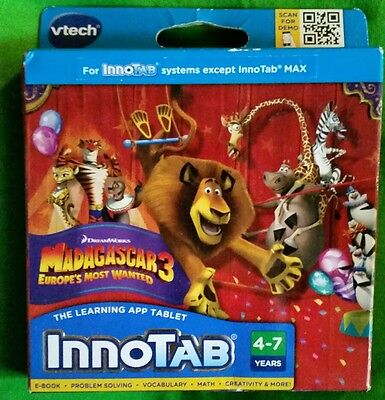 InnoTab Learning System V-Tech Madagascar Europe's Most Wanted Game-e-Book-NEW!