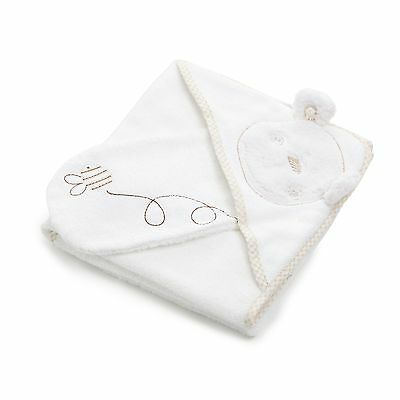 Obaby B is for Bear Hooded Baby/Infant Bathing Towel and Mitt - Cream