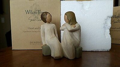 Willow Tree HEART AND SOUL Figurine  #26099 Open Hearts sharing souls friends