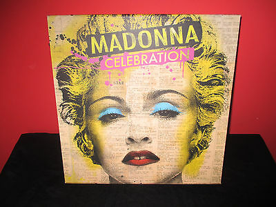 Madonna Promo Box Celebration 2Cd + 2Dvd Vg++ Rare Holiday Frozen Music