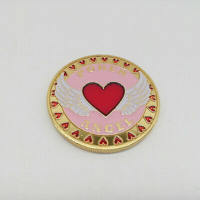Poker Angel Golden Casino Poker Chip Coin Card Guard Protector
