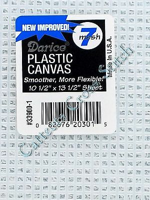 Darice Plastic Canvas 7 Count 01 --> CLEAR<--