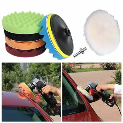 "7Pcs 180mm/7"" Buffing Polishing Sponge Pads Kit For Car Polisher Buffer AU STOCK"