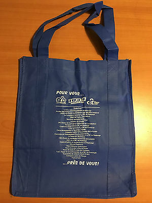 """LOT OF 20 TOTES BLUE PROMOTIONAL 13x14x9"""""""