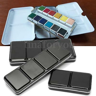 6/12/24 DIY Full Pan Solid Watercolor Empty Case Paint Box Art Drawing Paint