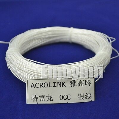 Viborg Silver Plated 6N OCC Signal Teflon Wire Cable silver wire for audio