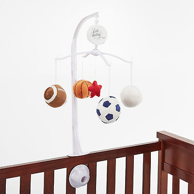 Little Bedding by Nojo High Five Sport Musical Mobile Infant Baby Plush Toy NIP