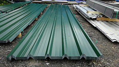 brand new 18ft long juniper green polyester coated box profile roofing sheets