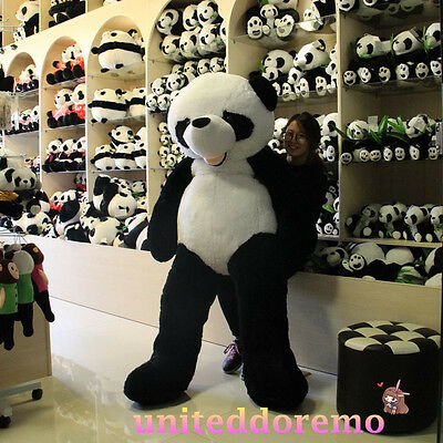 New 6 Feet Giant Stuffed Plush Panda Bear Doll Kid/Lover Valentine's Day Gifts