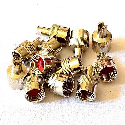 50pcs Chrome Metal Slotted Head Valve Stem Caps With Core Remover Tool