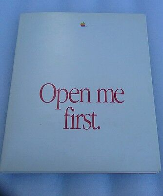 "Apple Macintosh SE ""Open Me First"" Folder Plus Disks (1988)"