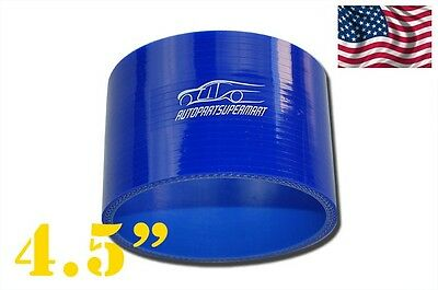"4-ply Silicone Straight Coupler Hose Pipe couplings 114mm (4.5"") Blue"