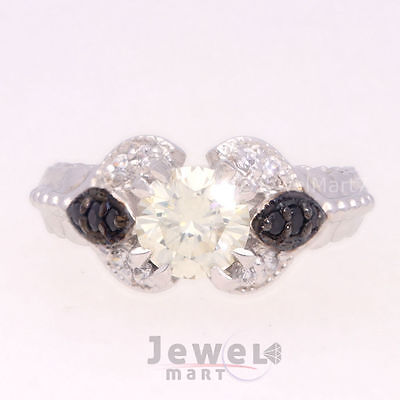 Lovely 0.84 ct Moissanite Engagement wedding Ring 925 Sterling Silver OWY JM