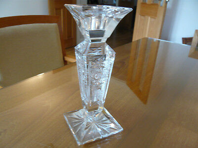 "BOHEMIA Lead Crystal (Over 24%) Candle Stick Holder 7 1/2"" high"