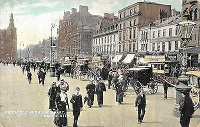 POSTCARD  MANCHESTER   Piccadilly  from  Infirmary