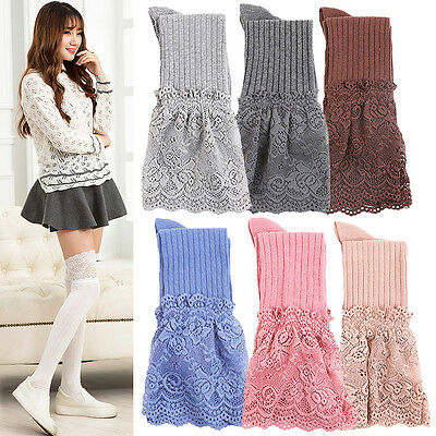 Fashion Womens Girls Summer Lace Over The Knee Thigh High Stockings Long Socks