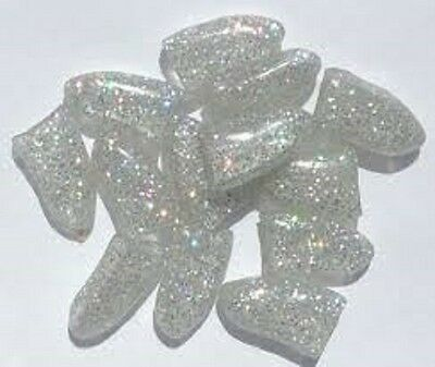 New Silver Sparkle Nail Caps For Dogs Claws Stops Damage Floors Furniture Skin